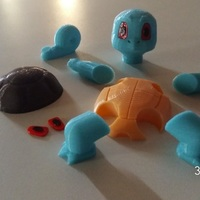 Small Pokemon Go Squirtle  3dFactory Brasil 3D Printing 11507