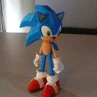 Small Sonic - 3dPrint - 3dFactory 3dPrintable ZERO Support 3D Printing 11556
