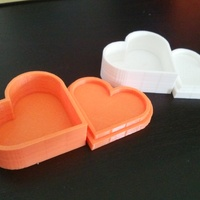 Small Heart jewelry box 3D Printing 1156