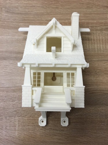 the American Craftsman Bungalow Birdhouse 3D Print 11615