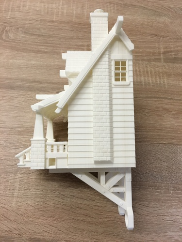 the American Craftsman Bungalow Birdhouse 3D Print 11616