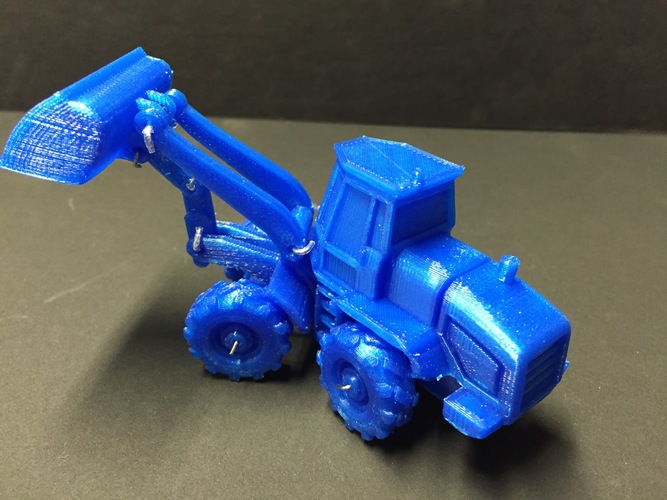 Easy to print Front Loader Model Kit 3D Print 11671