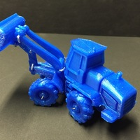 Small Easy to print Front Loader Model Kit 3D Printing 11671