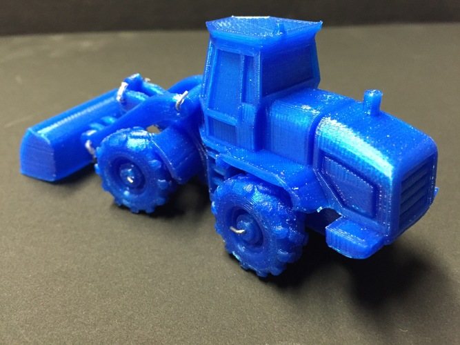 Easy to print Front Loader Model Kit 3D Print 11674