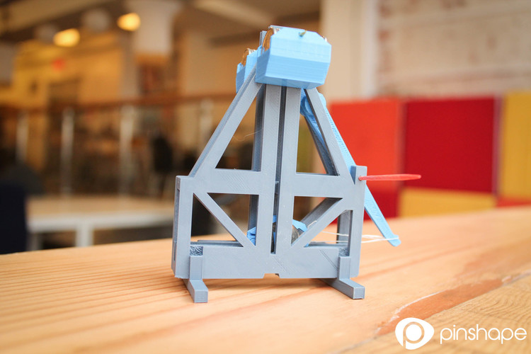 Floating arm trebuchet (dimes and pennies) 3D Print 117