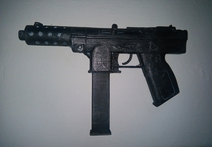 CS GO: Tec 9 (Functional Parts) 3D Print 11775