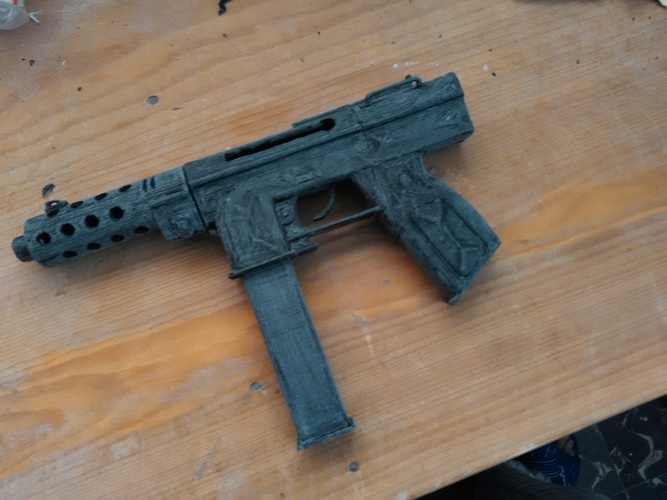 CS GO: Tec 9 (Functional Parts) 3D Print 11779