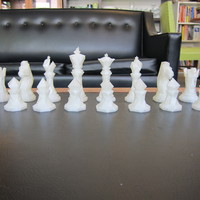 Small Faceted Chess Set  3D Printing 1178