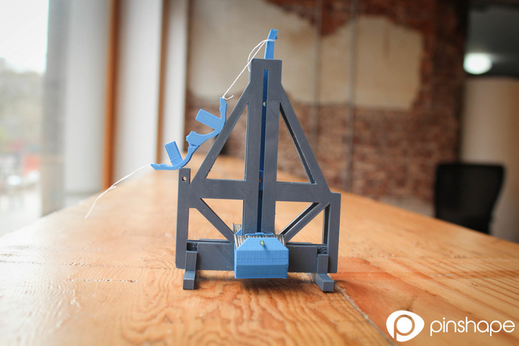 Floating arm trebuchet (dimes and pennies) 3D Print 118