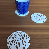 Small Tree silhouette coaster 3D Printing 11845