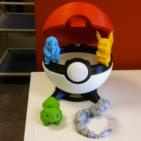 Small Pokeball remix 3D Printing 11848