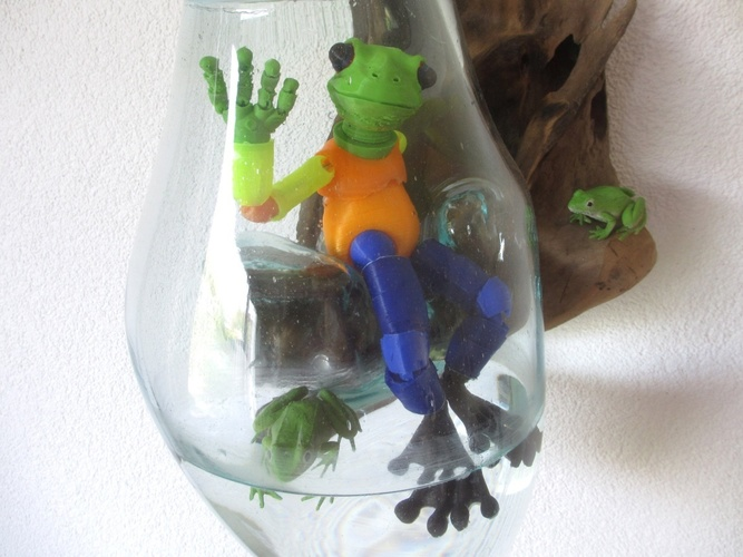 Froggy: the 3D printed ball-jointed frog doll 3D Print 11886