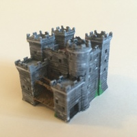 Small Teutonic castle 3D Printing 11983