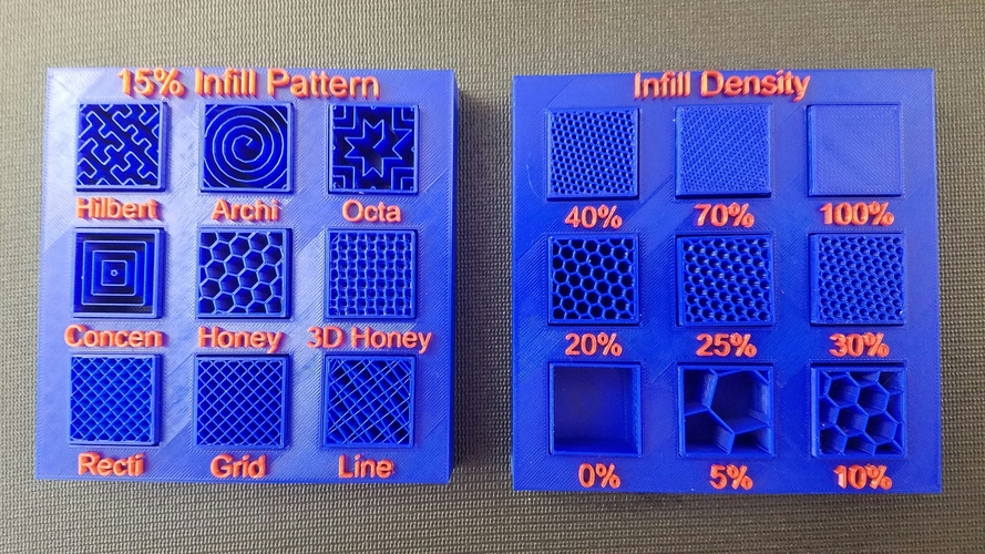 Display Tray for Infill Pattern and Infill Density 3D Print 12029