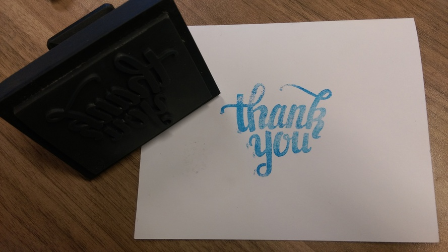 Thank You Stamp 3D Print 12039
