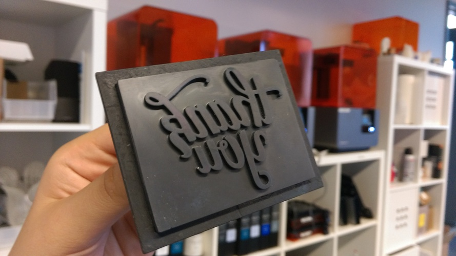 Thank You Stamp 3D Print 12040