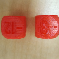 Small Negative Integer Dice 3D Printing 12046