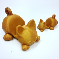Small  Keichain / Smartphone Stand Cat 3D Printing 12047