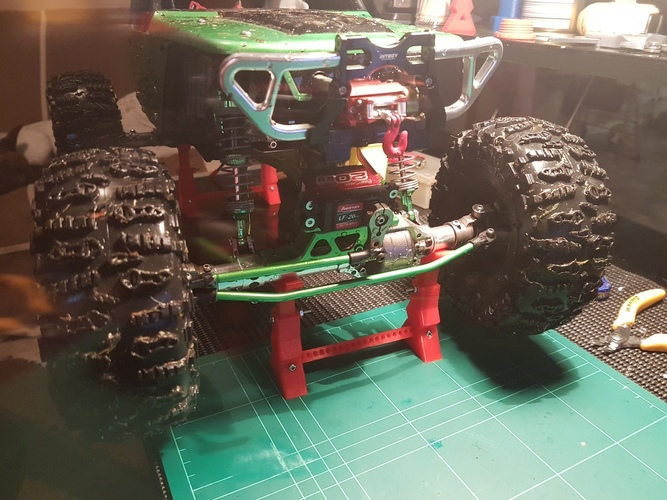 RC Jack Stand Crawler Scaler Vaterra Ascender Axial SCX10 Tamiya 3D Print 12052