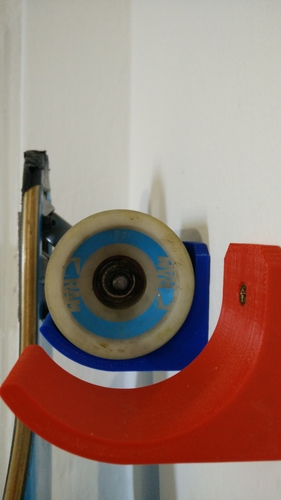 Longboard Wall Hanger - 70mm wheel diameter 3D Print 12098