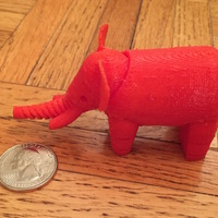 Small Elephant 3D Printing 12165