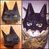 Small BatCat Mask 3D Printing 12168