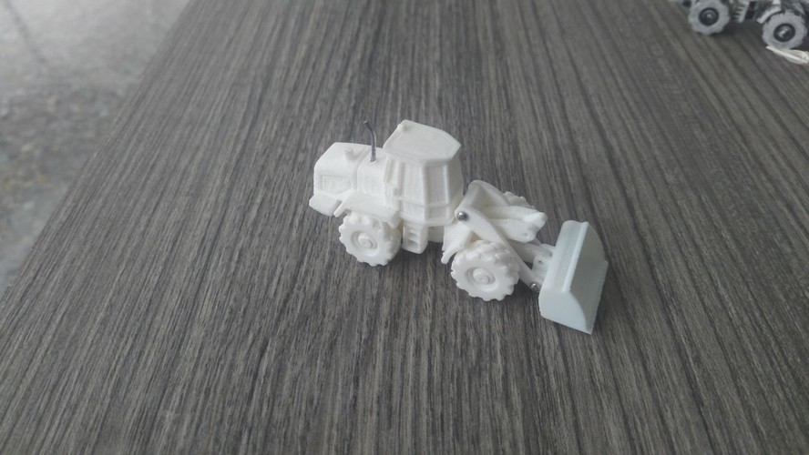 Easy to print Front Loader Model Kit 3D Print 12226