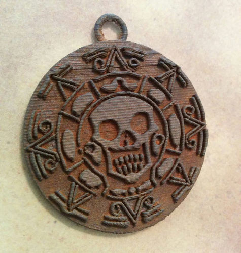 Pirates of the Caribbean Coin - 1 piece (For metal printing serv 3D Print 12368