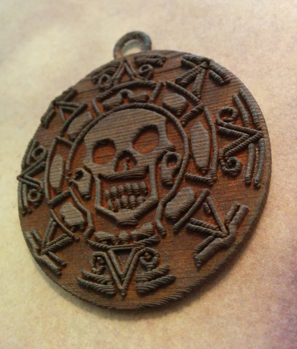Pirates of the Caribbean Coin - 1 piece (For metal printing serv 3D Print 12370