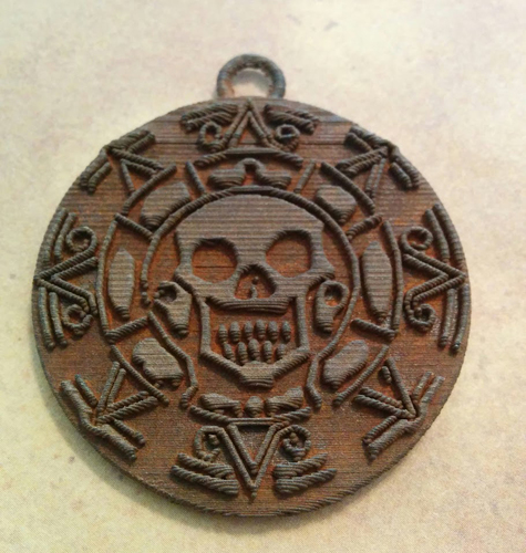 Pirates of the Caribbean Coin - 1 piece (For metal printing serv 3D Print 12371