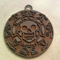 Small Pirates of the Caribbean Coin - 1 piece (For metal printing serv 3D Printing 12371