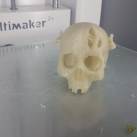 Small Boneheads: Skull Box w/ Brain - via 3DKitbash.com 3D Printing 12402
