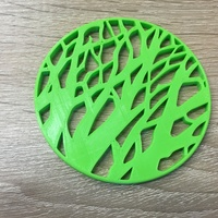 Small Tree silhouette coaster 3D Printing 12463