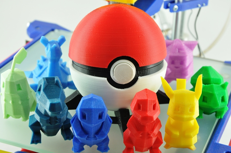 Pokeball (opens and closes) 3D Print 12469