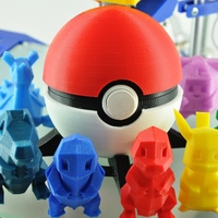 Small Pokeball (opens and closes) 3D Printing 12469
