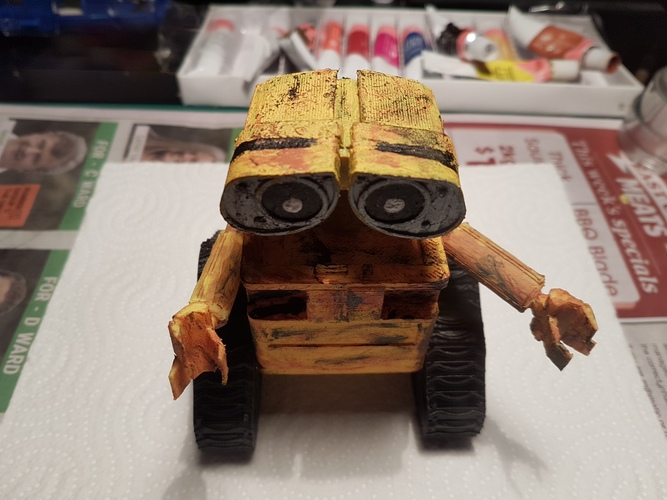 WALL-e  ( cut into parts ) 3D Print 12526