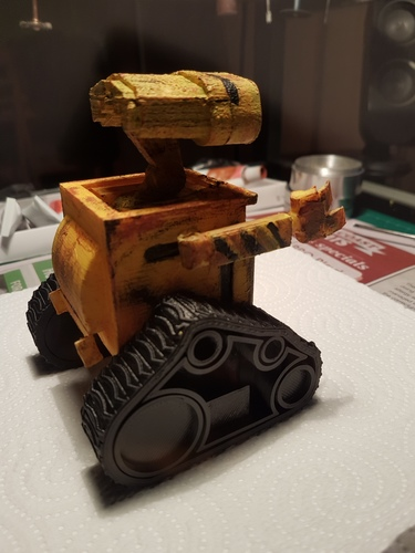 WALL-e  ( cut into parts ) 3D Print 12528