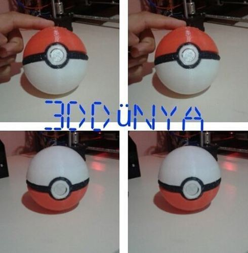 Pokeball (opens and closes) 3D Print 12542