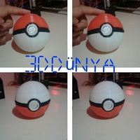Small Pokeball (opens and closes) 3D Printing 12542