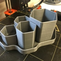 Small Hex Planter 3D Printing 12544