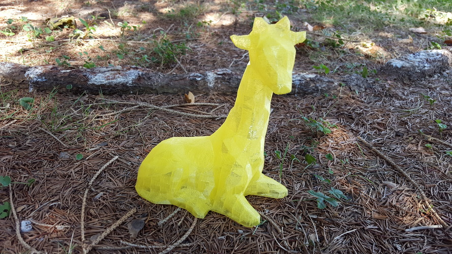 Low Poly Giraffe 3D Print 12547