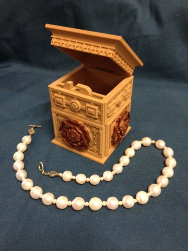 The Tudor Rose Box (with secret lock) 3D Print 12684