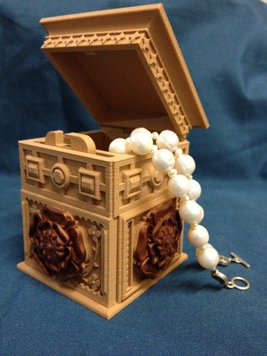 The Tudor Rose Box (with secret lock) 3D Print 12685