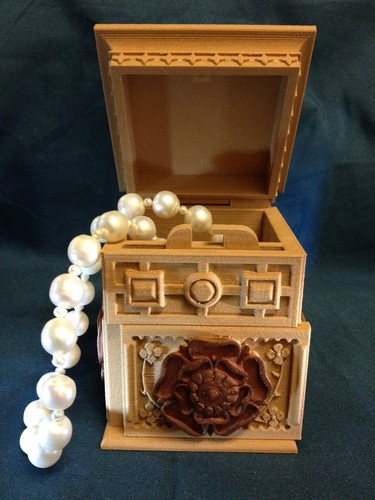 The Tudor Rose Box (with secret lock) 3D Print 12686