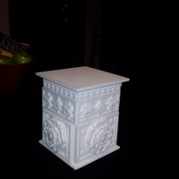Small The Tudor Rose Box (with secret lock) 3D Printing 12718
