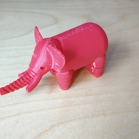 Small Elephant 3D Printing 1286