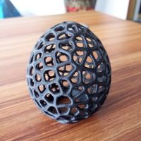 Small Voronoi LED Egg tealight shade 3D Printing 12930