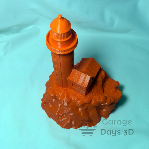 Lighthouse on a rock. 3D Print 12940