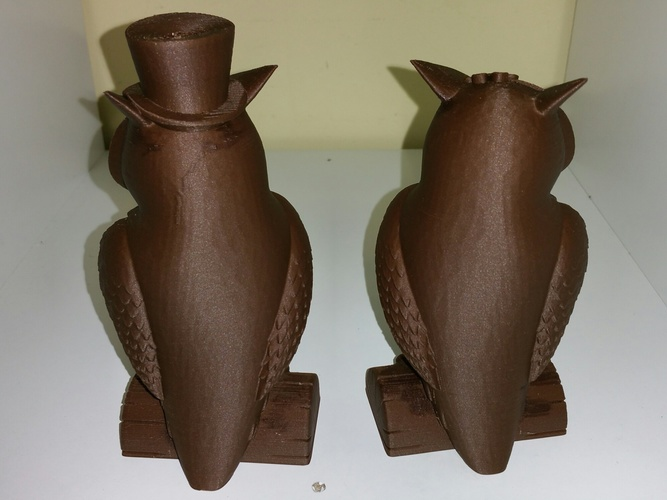 His_and_Her_Owls 3D Print 12966