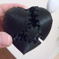 Small Screwless Heart Gears - Plated 3D Printing 13005